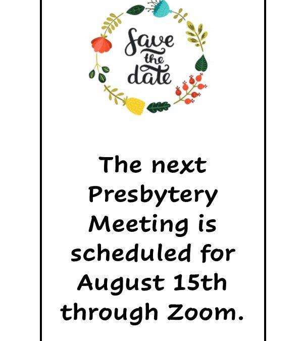 Aug 15 Meeting Reminder