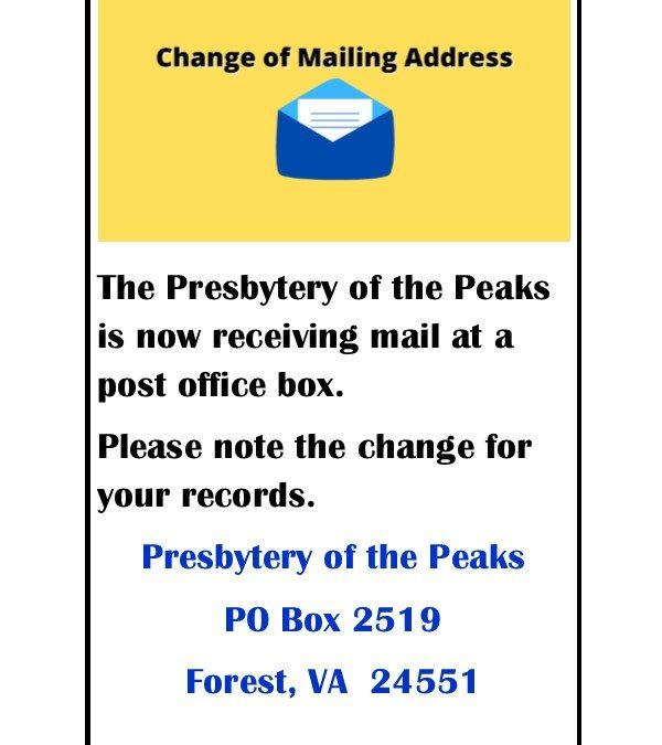 New Mailing Address